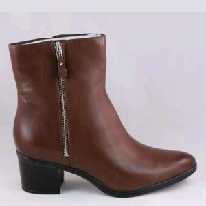 Naturalizer Harding Brown Leather Ankle Boots